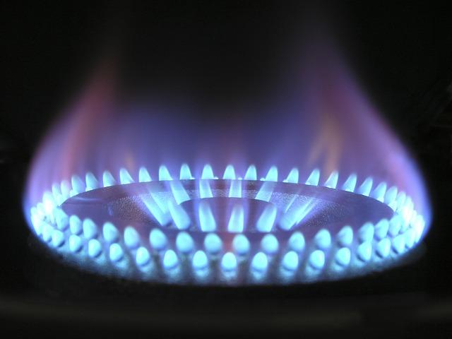 blue flame from furnace burner